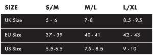 mt500 plus overshoe_new size chart
